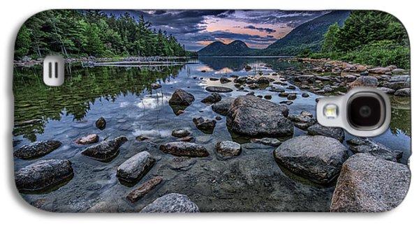 Maine Mountains Galaxy S4 Cases - Dusk at Jordan Pond Galaxy S4 Case by Rick Berk