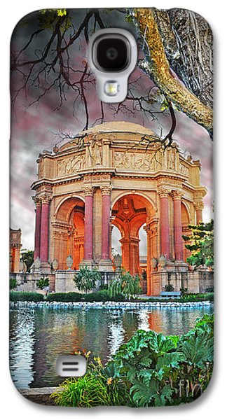 California Tourist Spots Galaxy S4 Cases - Dusk at the Palace of Fine Arts in the Marina District of San Francisco II Altered Version Galaxy S4 Case by Jim Fitzpatrick