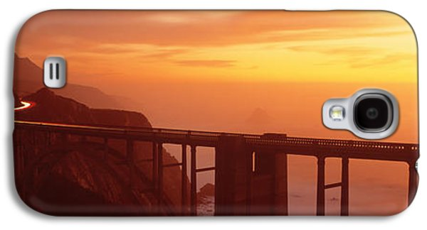 Coast Highway One Galaxy S4 Cases - Dusk Hwy 1 W Bixby Bridge Big Sur Ca Usa Galaxy S4 Case by Panoramic Images