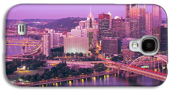 Business Galaxy S4 Cases - Dusk, Pittsburgh, Pennsylvania, Usa Galaxy S4 Case by Panoramic Images