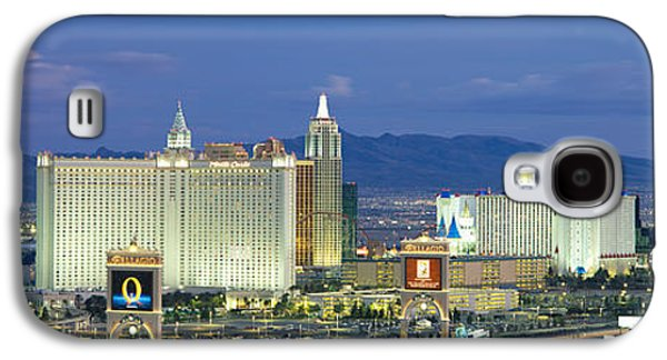 The Strip Galaxy S4 Cases - Dusk The Strip Las Vegas Nv Galaxy S4 Case by Panoramic Images