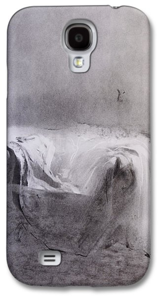 Empty Chairs Paintings Galaxy S4 Cases - Dust sheet Galaxy S4 Case by Janet Goddard