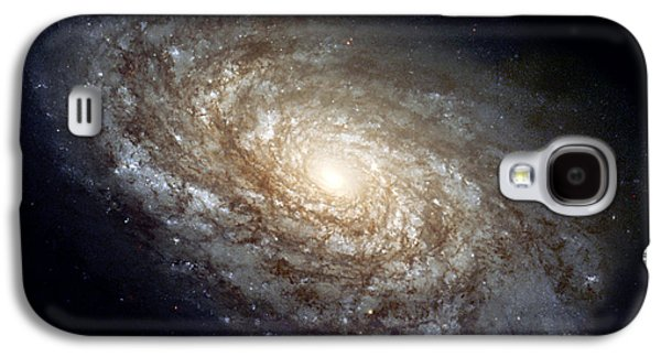 Stellar Paintings Galaxy S4 Cases - Dusty Spiral Galaxy Galaxy S4 Case by Celestial Images