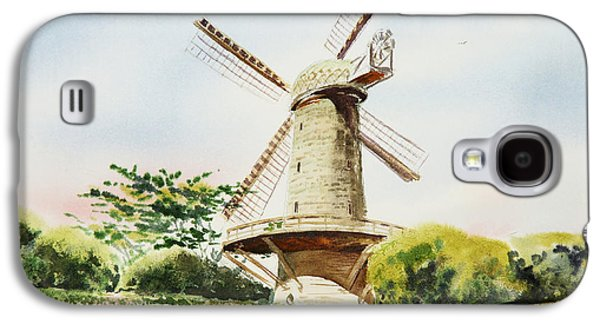 Windmill Galaxy S4 Cases - Dutch Windmill in San Francisco  Galaxy S4 Case by Irina Sztukowski