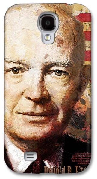 James Buchanan Galaxy S4 Cases - Dwight D. Eisenhower Galaxy S4 Case by Corporate Art Task Force