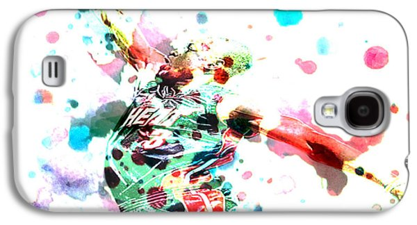 Lebron Paintings Galaxy S4 Cases - Dwyane Wade Galaxy S4 Case by Brian Reaves