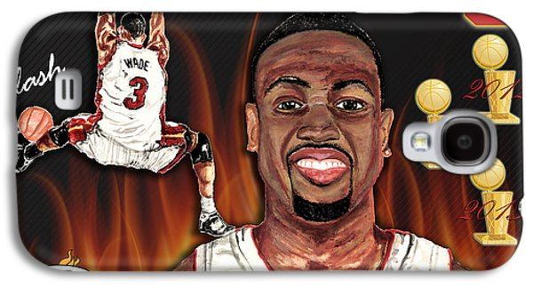 Lebron Mixed Media Galaxy S4 Cases - Dwyane Wade Galaxy S4 Case by Israel Torres