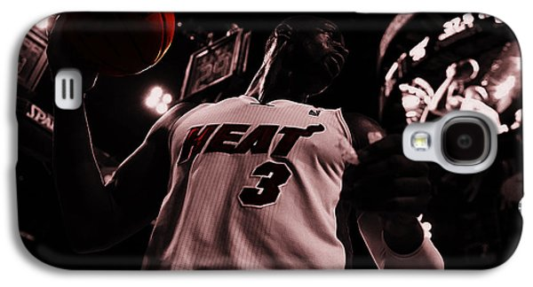 Dwyane Wade Galaxy S4 Cases - Dwyane Wade Ready to Go Galaxy S4 Case by Brian Reaves