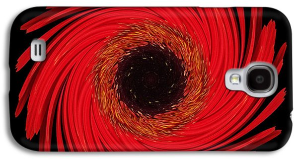 David J Bookbinder Galaxy S4 Cases - Dying Amaryllis Flower Mandala Galaxy S4 Case by David J Bookbinder