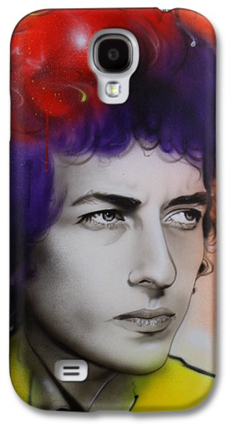 Bob Dylan Paintings Galaxy S4 Cases - Dylan Galaxy S4 Case by Christian Chapman Art