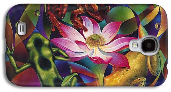 Fushia Galaxy S4 Cases - Dynamic Frogs Galaxy S4 Case by Ricardo Chavez-Mendez