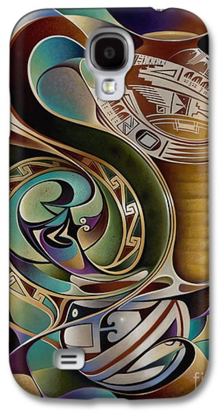 Pottery Paintings Galaxy S4 Cases - Dynamic Still I Galaxy S4 Case by Ricardo Chavez-Mendez