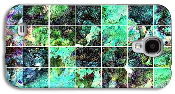 Digital Tapestries - Textiles Galaxy S4 Cases - Tiled Watercolor Blocks with Texture 6 Galaxy S4 Case by Barbara Griffin