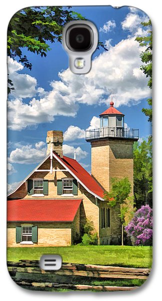 Split Rail Fence Galaxy S4 Cases - Eagle Bluff Lighthouse Galaxy S4 Case by Christopher Arndt