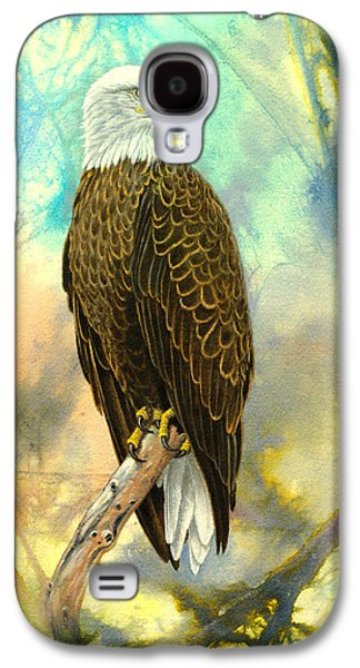 Eagle Paintings Galaxy S4 Cases - Eagle in Abstract Galaxy S4 Case by Paul Krapf