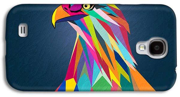 Geometric Digital Art Galaxy S4 Cases - Eagle Galaxy S4 Case by Mark Ashkenazi