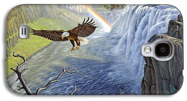 Waterfalls Paintings Galaxy S4 Cases - Eagle-Mesa Falls Galaxy S4 Case by Paul Krapf