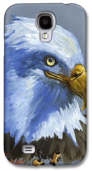 Eagle Paintings Galaxy S4 Cases - Eagle Patrol Galaxy S4 Case by Jeff Brimley