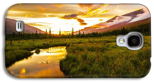 Nature Center Galaxy S4 Cases - Eagle River Valley Sunset Galaxy S4 Case by Kyle Lavey