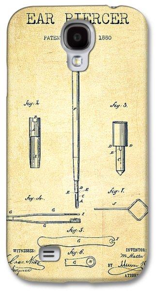 Ears Digital Art Galaxy S4 Cases - Ear Piercer Patent From 1880 - vintage Galaxy S4 Case by Aged Pixel