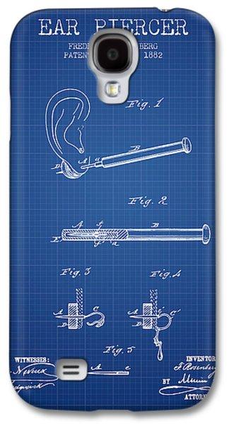 Ears Digital Art Galaxy S4 Cases - Ear Piercer Patent From 1882 - Blueprint Galaxy S4 Case by Aged Pixel