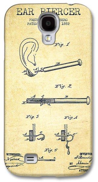 Ears Digital Art Galaxy S4 Cases - Ear Piercer Patent From 1882 - Vintage Galaxy S4 Case by Aged Pixel