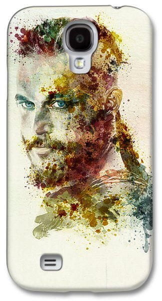 """""""square """" Mixed Media Galaxy S4 Cases - Earl Ragnar Lothbrok in watercolor Galaxy S4 Case by Marian Voicu"""