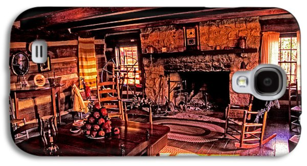 Log Cabin Interiors Galaxy S4 Cases - Early American Livingroom Galaxy S4 Case by Paul W Faust -  Impressions of Light