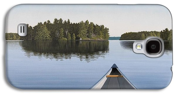 Canoe Galaxy S4 Cases - Early Evening Paddle  Galaxy S4 Case by Kenneth M  Kirsch