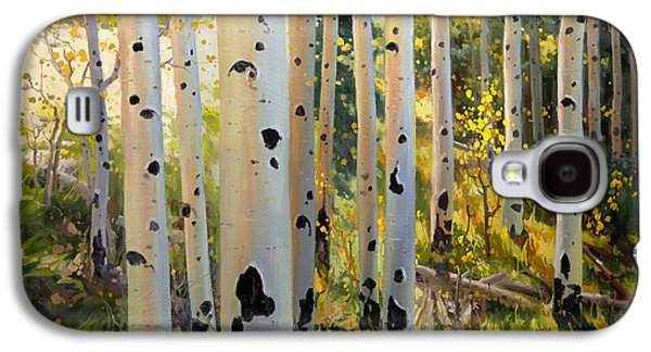 Posters On Paintings Galaxy S4 Cases - Early Fall Colors of Aspen Galaxy S4 Case by Gary Kim