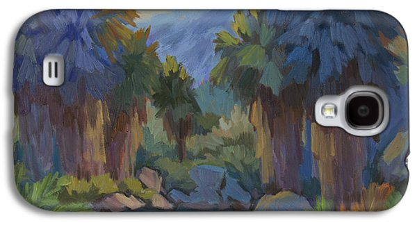 Early Spring Paintings Galaxy S4 Cases - Early Light Indian Canyon Galaxy S4 Case by Diane McClary