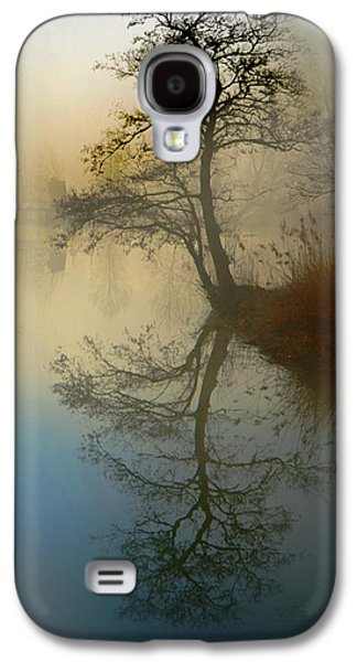 Abstract Digital Pyrography Galaxy S4 Cases - Early Morning Galaxy S4 Case by manhART