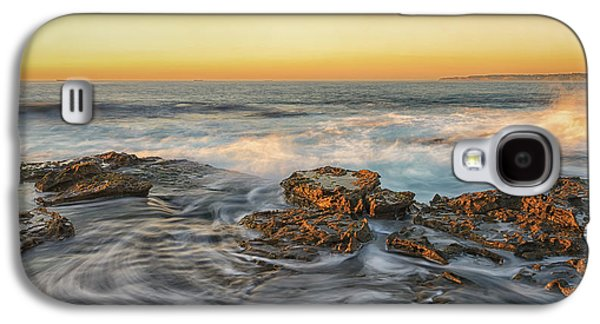 Waterscape Pyrography Galaxy S4 Cases - Early Morning Sun Kisses Galaxy S4 Case by Tim Brown