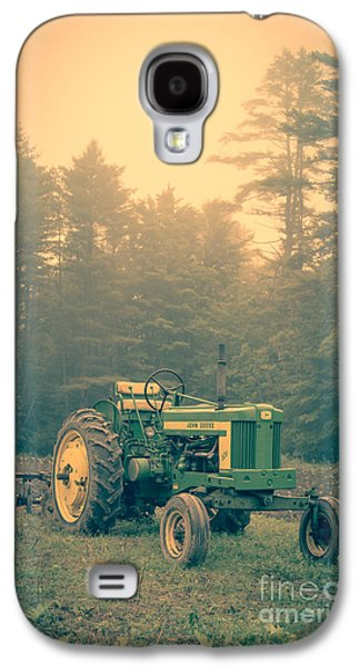 Early Morning Tractor In Farm Field Galaxy S4 Case by Edward Fielding