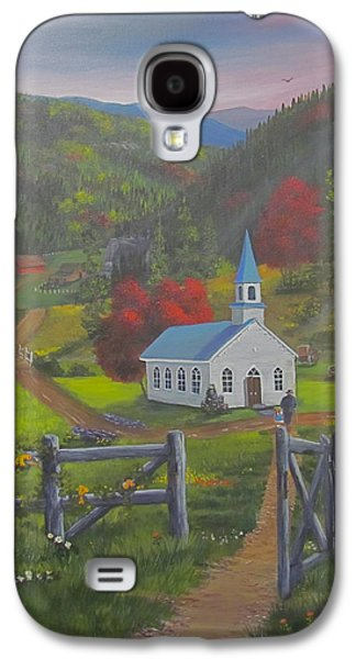 Smokey Mountains Paintings Galaxy S4 Cases - Early on the Lords Day Galaxy S4 Case by Glen Gray