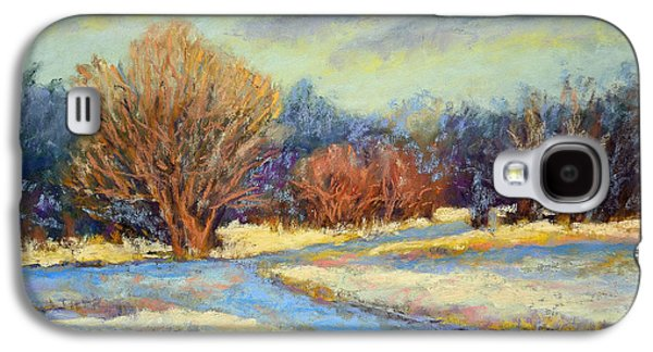 Park Scene Pastels Galaxy S4 Cases - Early Snow Galaxy S4 Case by Arlene Baller