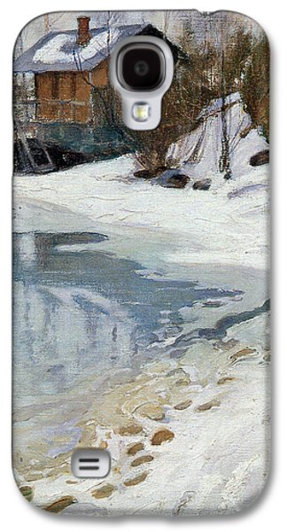 Early Spring Paintings Galaxy S4 Cases - Early spring Galaxy S4 Case by Celestial Images