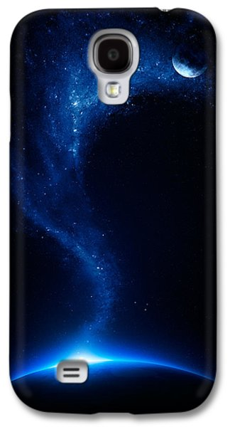 Earth Galaxy S4 Cases - Earth and moon interconnected Galaxy S4 Case by Johan Swanepoel