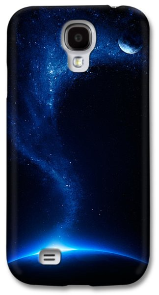 Field Digital Art Galaxy S4 Cases - Earth and moon interconnected Galaxy S4 Case by Johan Swanepoel
