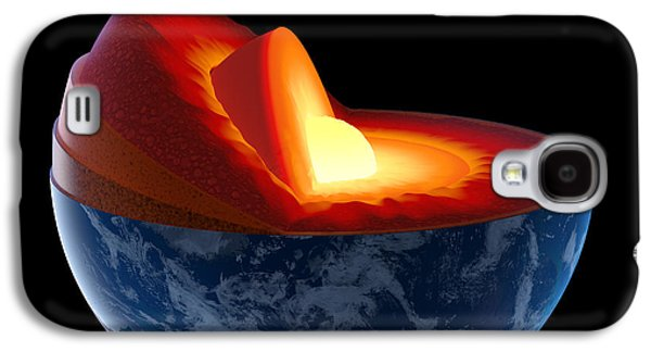 Earth Galaxy S4 Cases - Earth core structure - isolated Galaxy S4 Case by Johan Swanepoel
