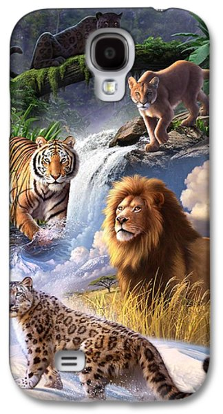 Wildlife Digital Art Galaxy S4 Cases - Earth Day 2013 poster Galaxy S4 Case by Jerry LoFaro