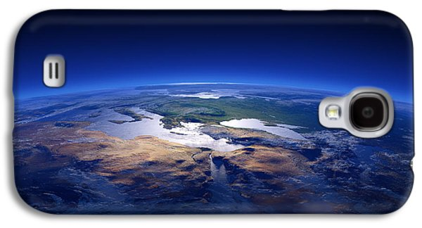 Photorealistic Galaxy S4 Cases - Earth - Mediterranean Countries Galaxy S4 Case by Johan Swanepoel