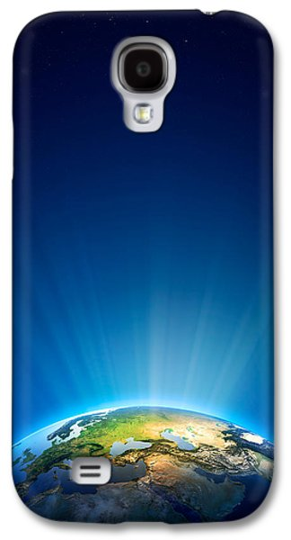 Earth Radiant Light Series - Europe Galaxy S4 Case by Johan Swanepoel
