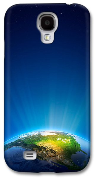 Earth Radiant Light Series - North America Galaxy S4 Case by Johan Swanepoel