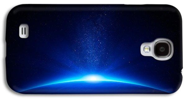Earth Sunrise In Space Galaxy S4 Case by Johan Swanepoel