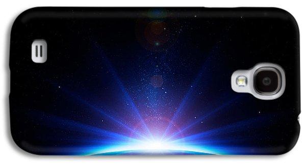 Earth Sunrise Galaxy S4 Case by Johan Swanepoel