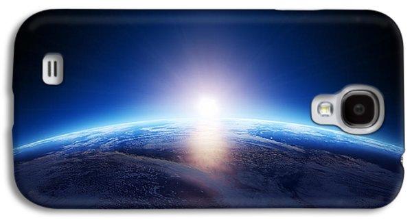 Earth Sunrise Over Cloudy Ocean  Galaxy S4 Case by Johan Swanepoel