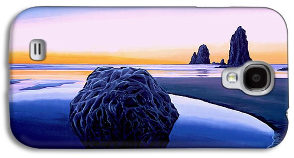 Night Sky Paintings Galaxy S4 Cases - Earth Sunrise Galaxy S4 Case by Paul Meijering