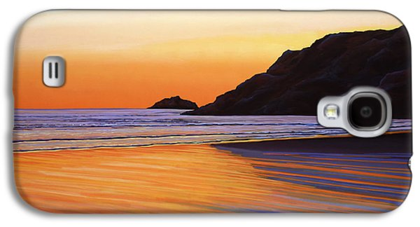 Print On Canvas Galaxy S4 Cases - Earth Sunrise Sea Galaxy S4 Case by Paul Meijering