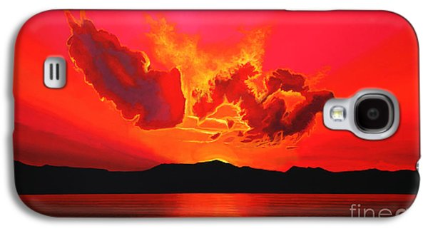 Mist Paintings Galaxy S4 Cases - Earth Sunset Galaxy S4 Case by Paul  Meijering
